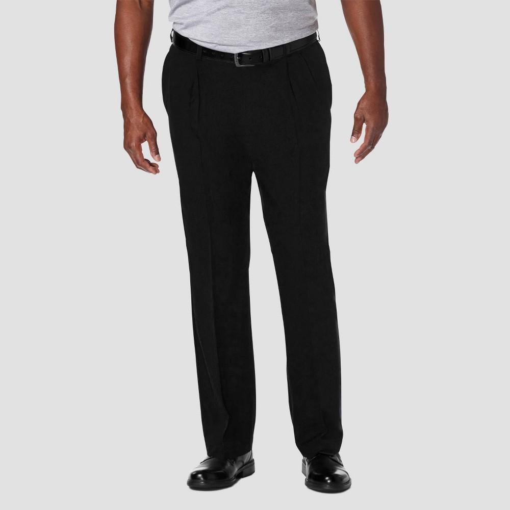 Coupons Haggar Men's Big & Tall Cool 18 PRO Classic Fit Pleat Casual Pants -