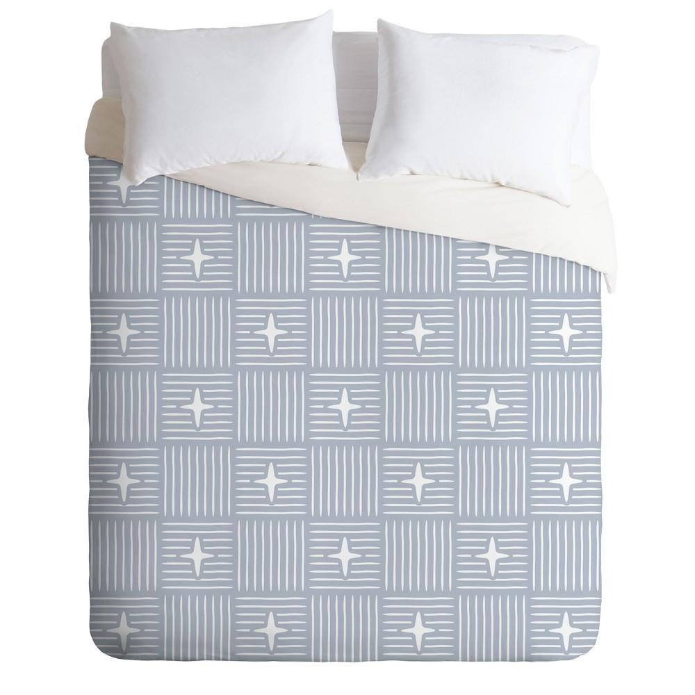 Full/Queen Little Arrow Design Co Nordic Winter Blue Duvet Cover Set Blue - Deny Designs