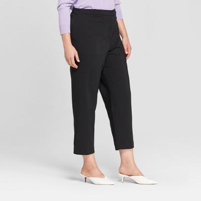 Women's Plus Size Straight Leg Cropped Trousers - Prologue™