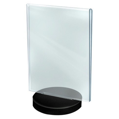 "Azar® 8.5"""" x 11"" Vertical Frame on a Black Round Base 10ct - image 1 of 2"