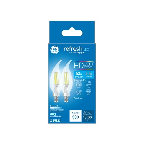 Ca Refresh Light Bulb LED Dl 60W Cac Clear 2pk - image 1 of 2