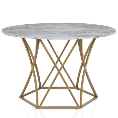 Elle Round Dining Table Gold - CosmoLiving by Cosmopolitan - image 1 of 4