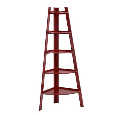 "63"" x 26.5"" Five-Tier Pyramid Corner Ladder Shelf - Danya B."