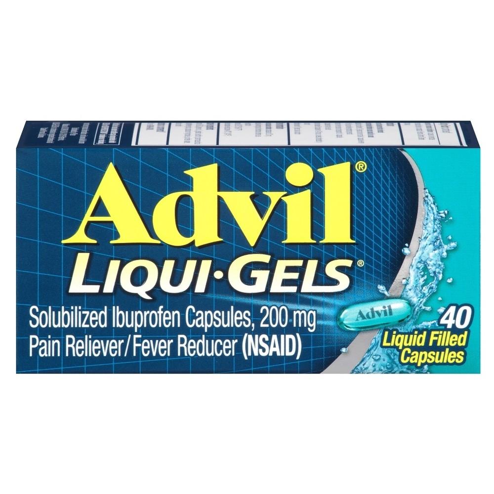 Advil Liqui-Gels Pain Reliever/Fever Reducer Liquid Filled Capsules - Ibuprofen (Nsaid) - 40ct