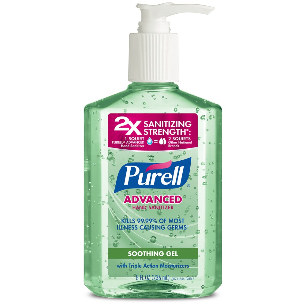 Image of PURELL Advanced Hand Sanitizer Soothing Gel with Aloe and Vitamin E - 8 fl oz