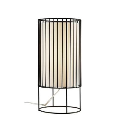 "15"" Vaughn Table Lantern Black - Adesso"