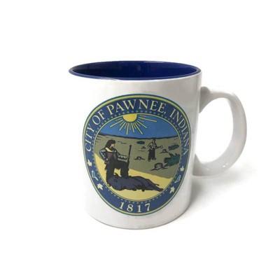 Parks and Recreation 20oz Ceramic City of Pawnee Mug - Silver Buffalo