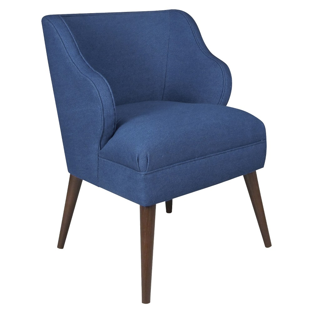 Accent Chair Denim Blue - Skyline Furniture