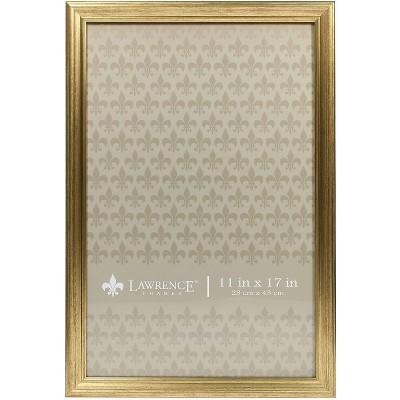 Lawrence Frames 11x17 Sutter Burnished Gold Picture Frame 536217