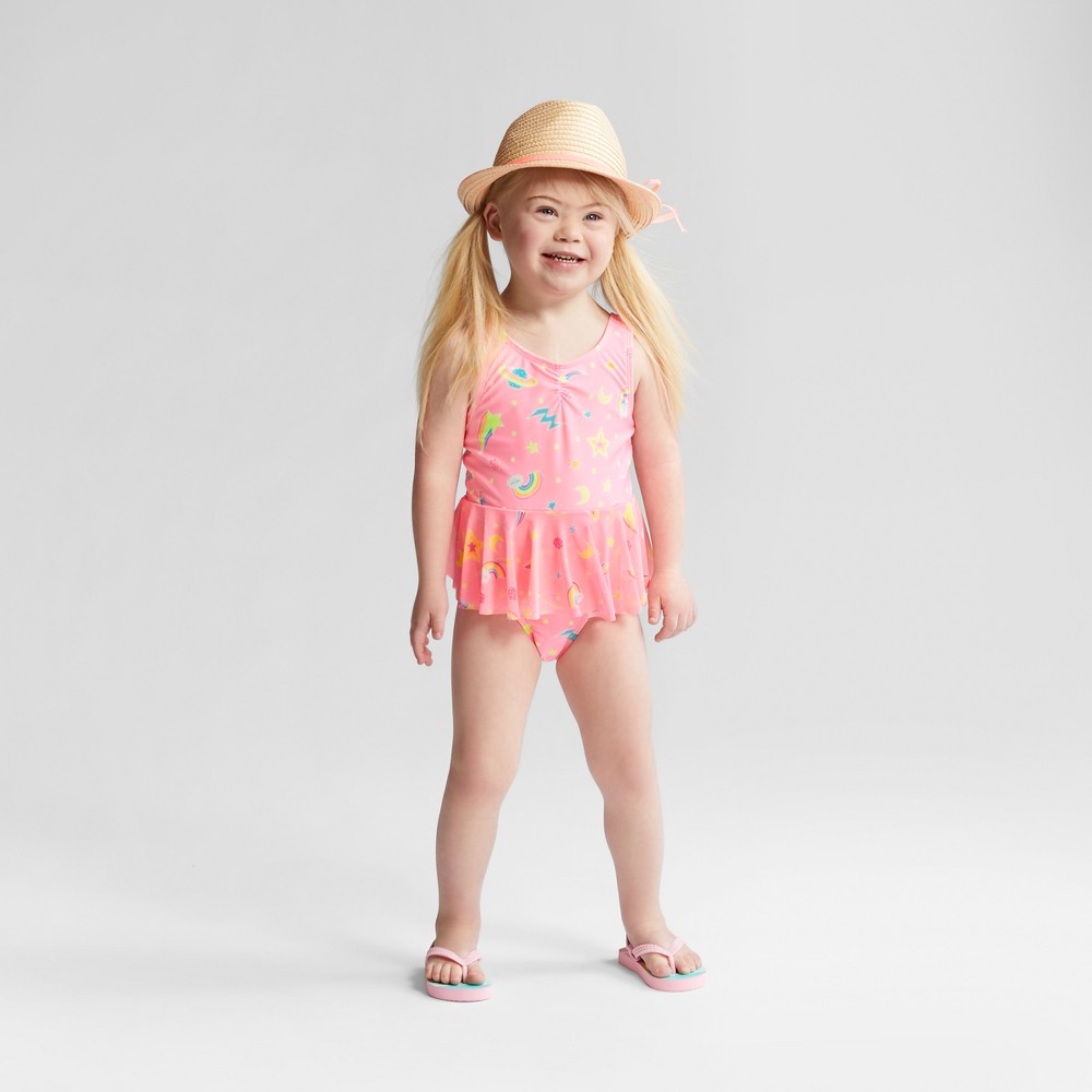 Toddler Girls' Galaxy One Piece Swimsuit - Cat & Jack Pink 2T