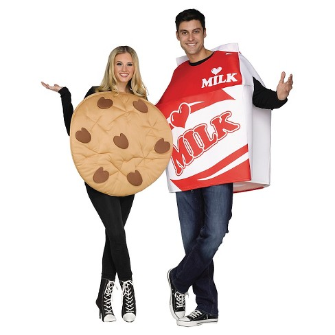 Adult Cookies & Milk Couples Costumes (Includes 2 Costumes) - One Size Fits Most - image 1 of 1
