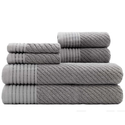 6pc Beacon Gray Bath Towels Sets - Caro Home