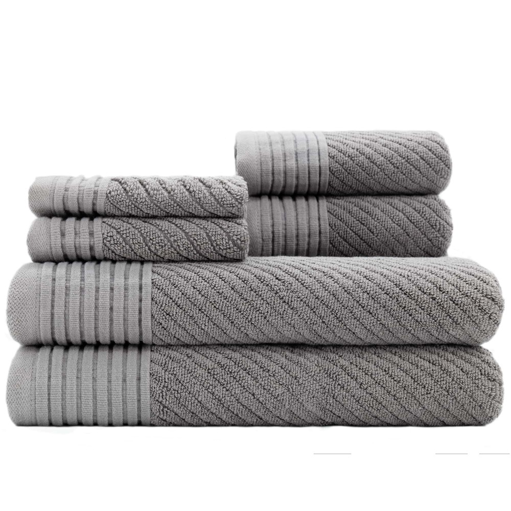 Image of 6pc Beacon Gray Bath Towels Sets - Caro Home