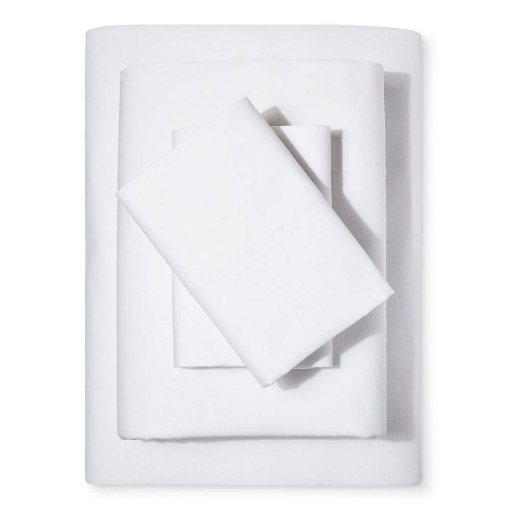 Washed Linen Cotton Blend Sheet Set (Twin) White - Loft New York