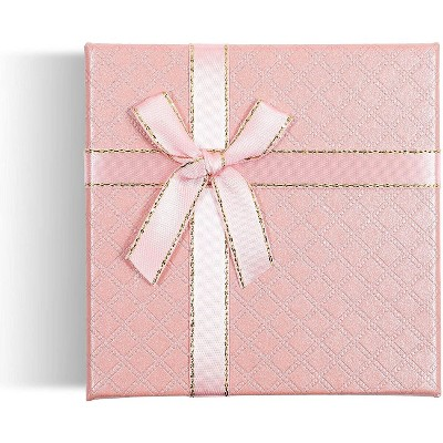 Bright Creations 12-Pack Jewelry Gift Box Set with Lids, Ribbon Bows (4 Colors, 3.5 x 1 in)