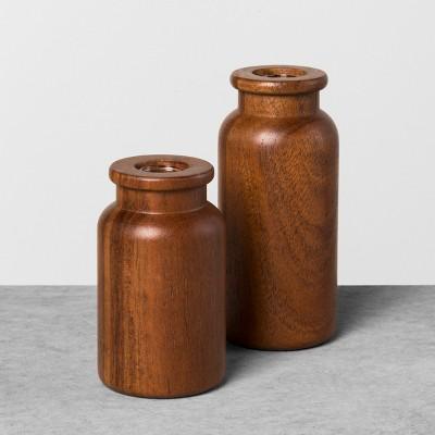 2pk Wood Bud Vase - Hearth & Hand™ with Magnolia