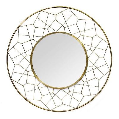 """35.63"""" Aimee Wall Mirror Gold - Stratton Home Décor"""