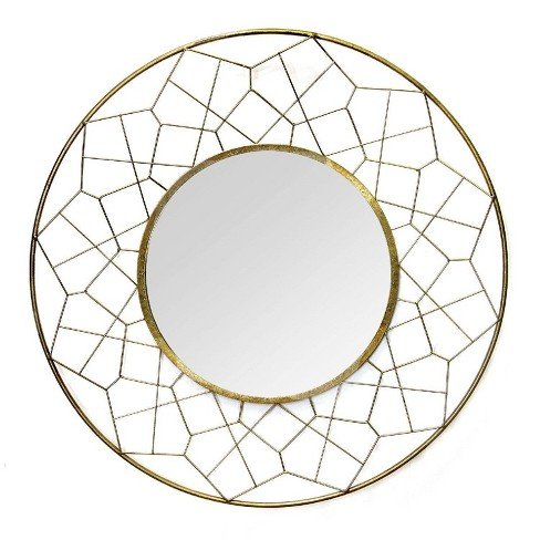 35 63 Aimee Wall Mirror Gold Stratton Home Dcor Target