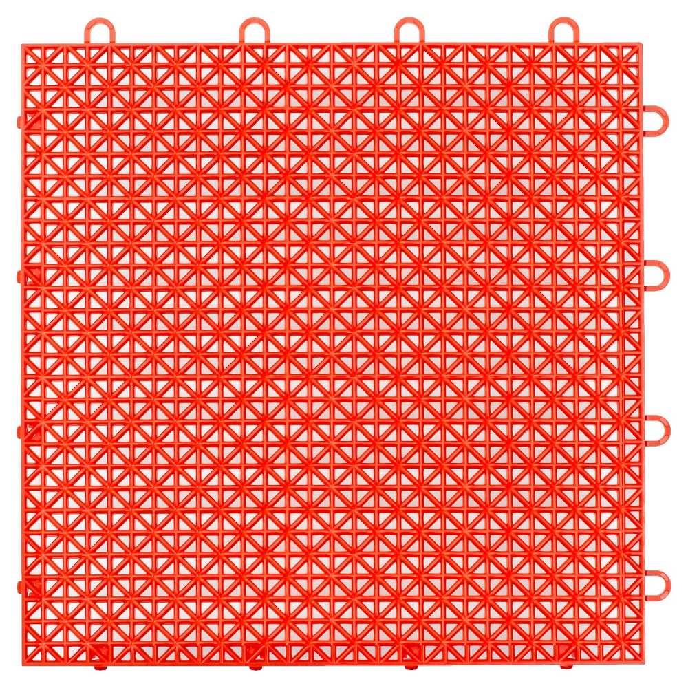 "Image of ""12""""x12"""" Armadillo Floor Tile 9 Pack - Flaming Red"""