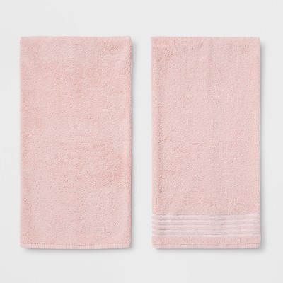 2pk Solid Bath Towel Sets Loring Pink - Room Essentials™
