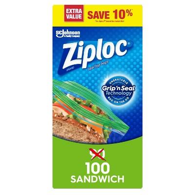 Ziploc Sandwich Bags - 100ct