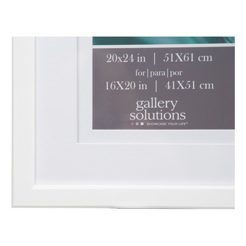 Single Image 20X24 Wide Double Mat White 16X20 Frame - Gallery ...