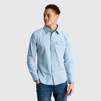 Men's United By Blue Organic Chambray Long Sleeve Button-Down Shirt - Chambray Indigo