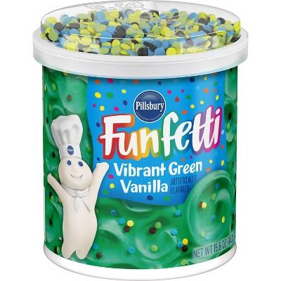 Pillsbury Funfetti Vibrant Green Vanilla Frosting 15.6oz