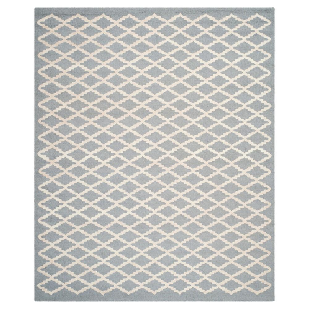 Denzel Area Rug - Silver/Ivory (9'x12') - Safavieh