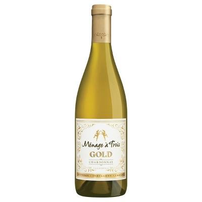 Ménage à Trois Gold Chardonnay White Wine - 750ml Bottle
