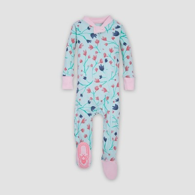 Burt's Bees Baby® Organic Cotton Girls' Bethel Woods Sleeper - Blue 3-6M