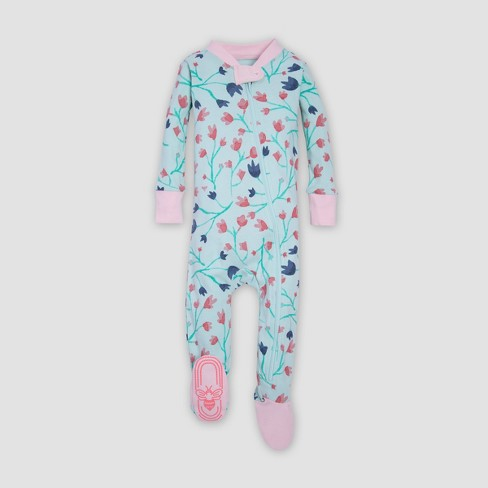 ab3174022 Burt s Bees Baby® Organic Cotton Girls  Bethel Woods Sleeper - Blue ...