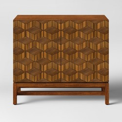 Tachuri Geometric Front 2 Door Cabinet Brown  - Opalhouse™