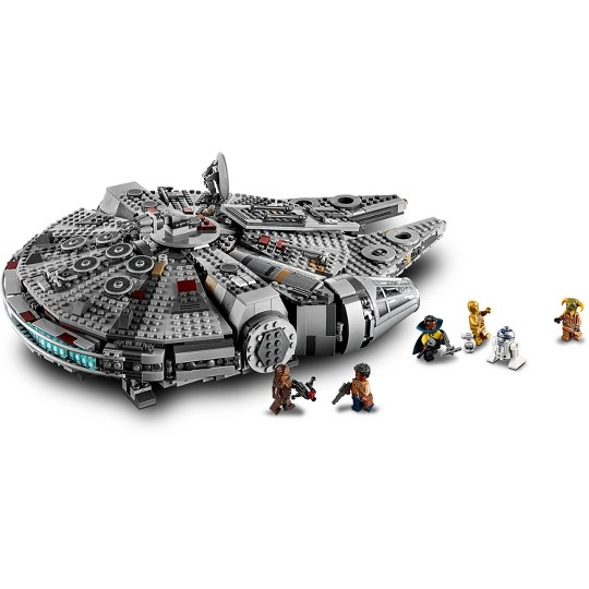 LEGO Star Wars: The Rise of Skywalker Millennium Falcon Building Kit Starship Model with Minifigures 75257 image number null