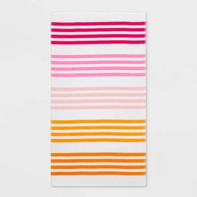Basics Multi Stripe Beach Towel Pink - Sun Squad™