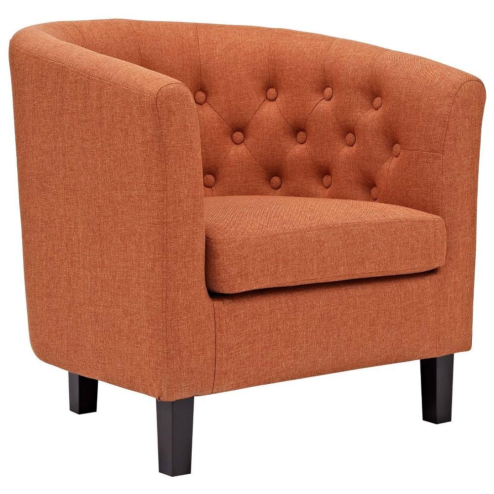 Prospect Upholstered Armchair Orange - Modway