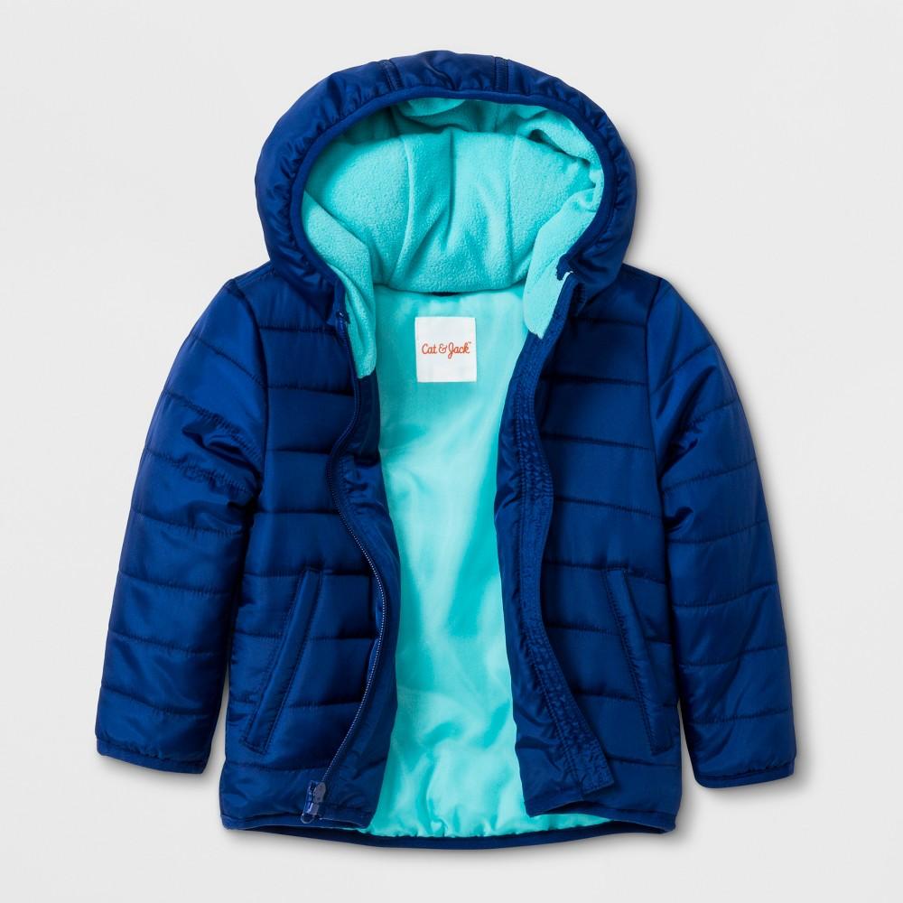 Toddler Boys' Hooded Fashion Jacket - Cat & Jack Blue 2T