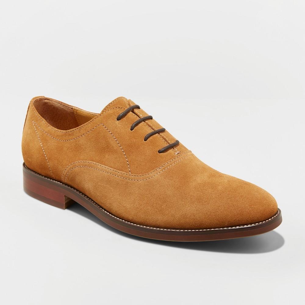 Men's Gracin Suede Oxford Dress Shoes - Goodfellow & Co Tan 15, Brown