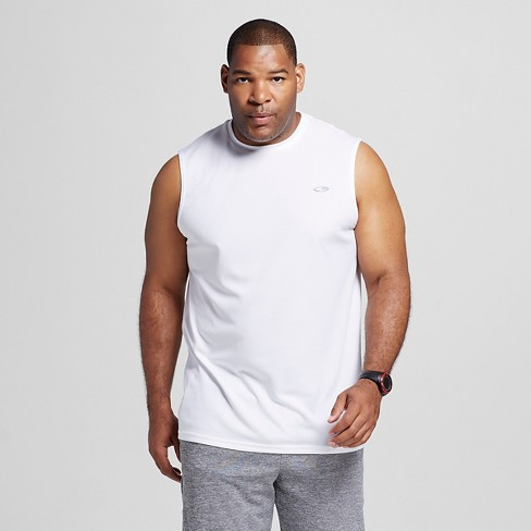 Men's Big & Tall Tech Sleeveless Shirt True White MT - C9 Champion® - image 1 of 2