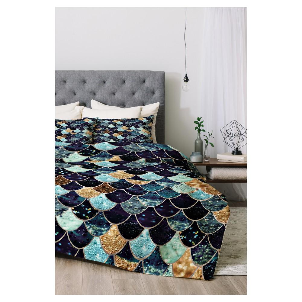 Blue Monika Strigel Really Mermaid Comforter Set (Queen) 3pc - Deny Designs