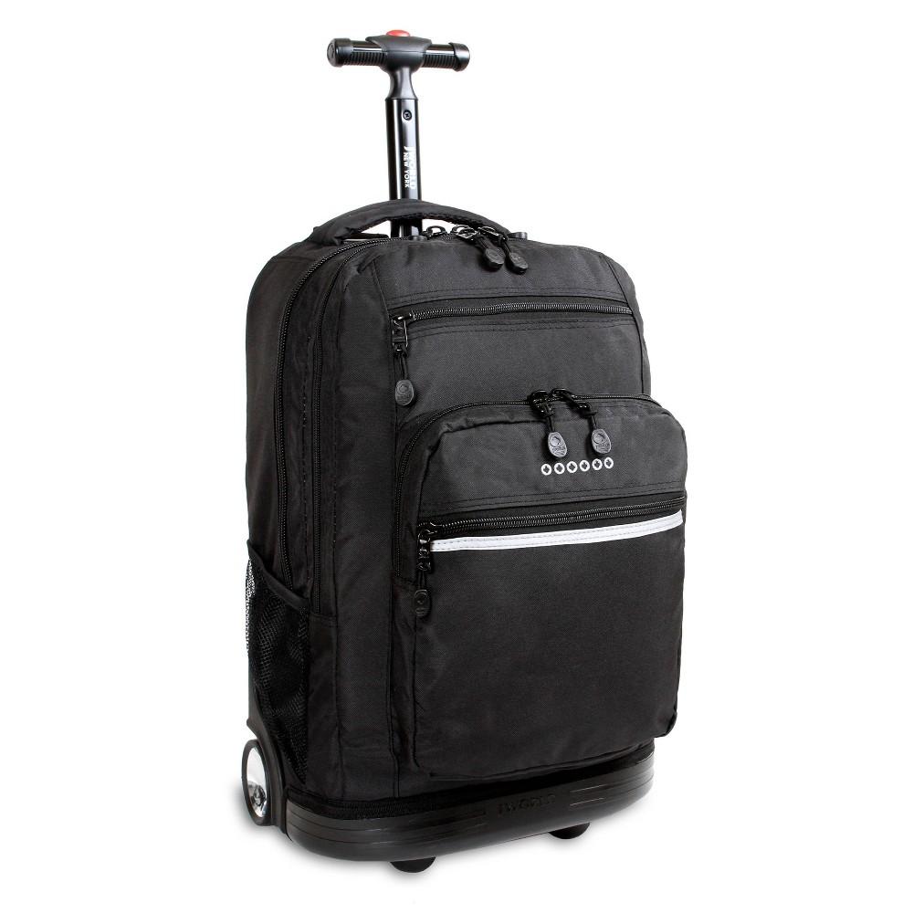J World 20 Sundance Rolling Backpack With Laptop Sleeve Black