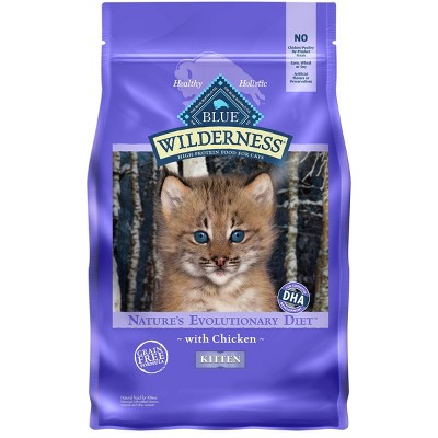 Blue Buffalo Wilderness Grain Free with Chicken Kitten Premium Dry Cat Food