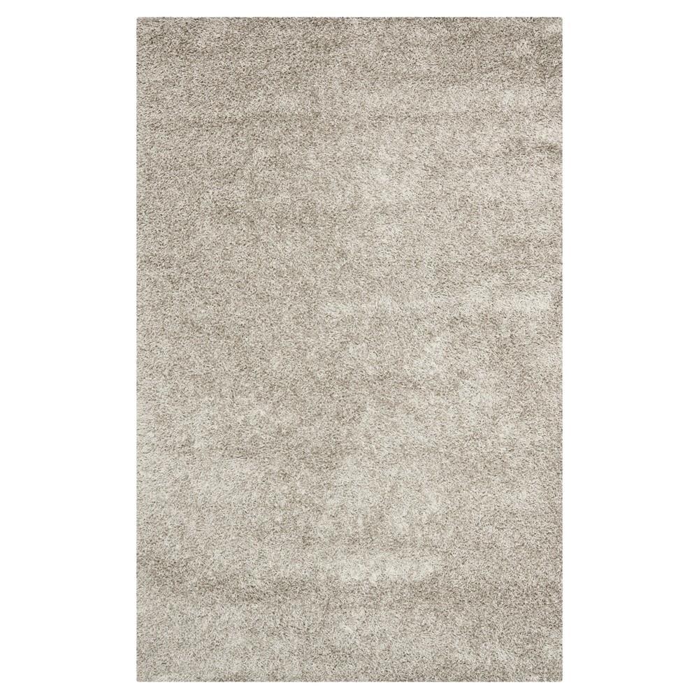 Silver Solid Shag/Flokati Tufted Area Rug - (9'X12') - Safavieh