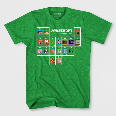 Boys' Minecraft Periodic Table Short Sleeve T-Shirt - Green - image 1 of 1