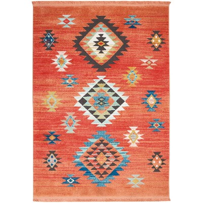 """5'3""""x7'6"""" Rectangle Loomed Area Rug Red - Nourison"""
