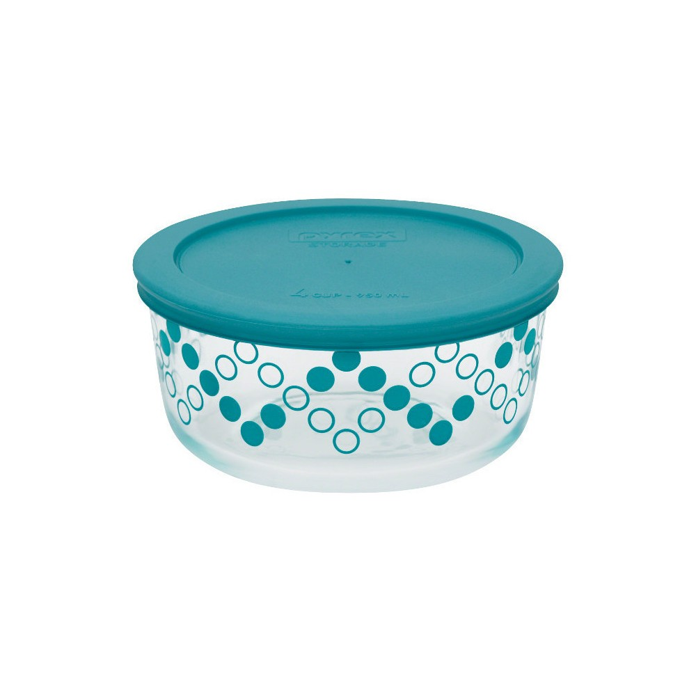 Food Storage Container Pyrex Turquoise