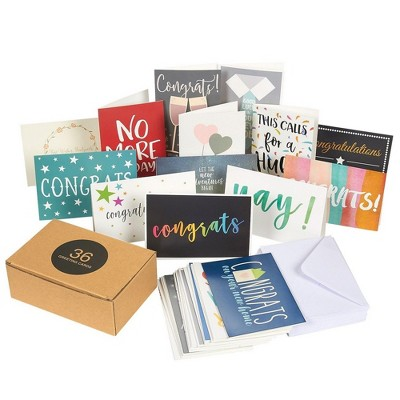 Best Paper Greetings 36 Pack Assorted All Occasion Greeting Cards, Congratulations Cards for Engagement Wedding, 4x6 in