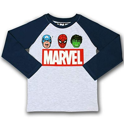Boy's Marvel Heroes Long Sleeve Graphic Shirt For Kids