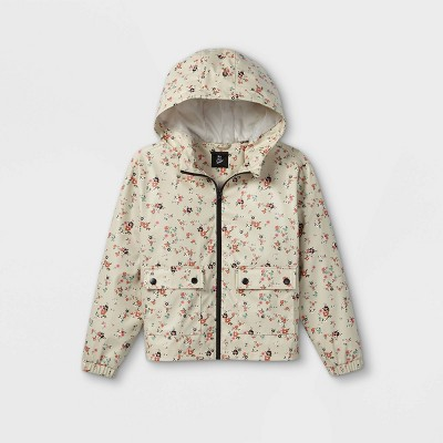 Girls' Hooded Rain Long Sleeve Jacket - art class™