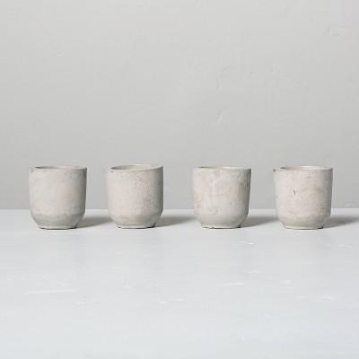 4pk Mini Citronella Cement Candles - Hearth & Hand™ with Magnolia